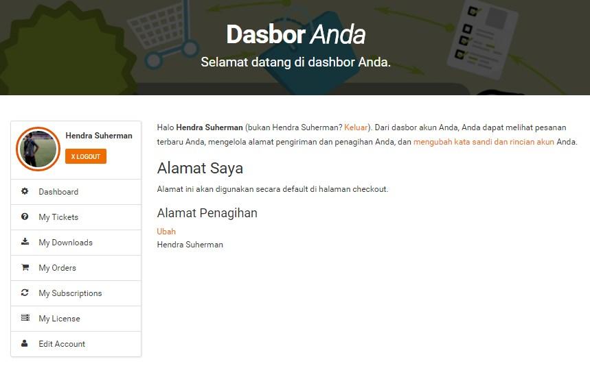 dashboard agenwebsite