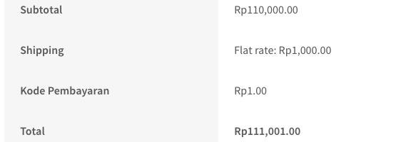 Biaya tambahan