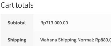 WooCommerce Wahana Shipping